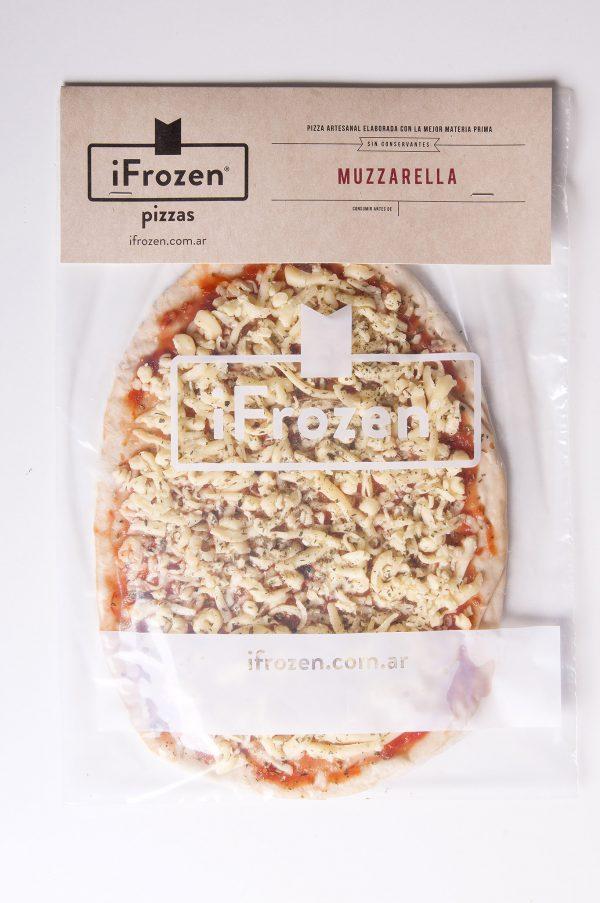 pizza a la parrilla de muzzarella